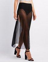 Charlotte Russe Sheer Mesh Maxi Skirt