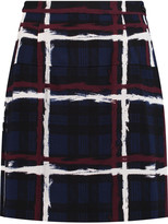 Marc by Marc Jacobs Pleated checked crepe mini skirt