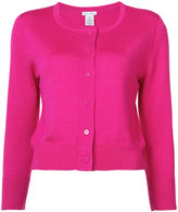Oscar de la Renta cropped sleeve cardigan - women - Silk/Virgin Wool - XL