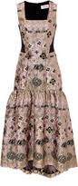 Temperley London Tower Jacquard Long Dress