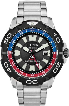 Citizen Eco-Drive Men's Promaster GMT Stainless Steel Dive Watch - BJ7128-59E