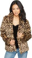 Volcom Junior's Womens' Fureals Print Fur Coat