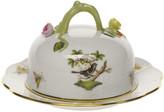 Herend Rothschild Bird Covered Butter Dish
