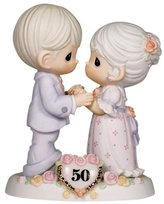"Precious Moments Precious Moments, Anniversary Gifts, ""We Share A Love Forever Young"", 50th Anniversary, Bisque Porcelain Bisque Porcelain Figurine, #115912"