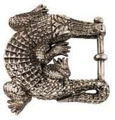 Kieselstein-Cord Sterling Grand Alligator Buckle