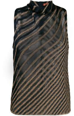 Missoni zigzag pattern knitted top