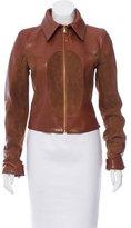 Dolce & Gabbana Belt-Accented Leather Jacket