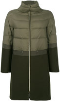 Herno contrast texture coat - women - Cotton/Feather Down/Polyamide/Wool - 38