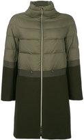 Herno contrast texture coat