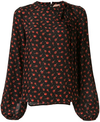 No.21 Printed Crew Neck Blouse