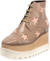 Stella McCartney Elyse Star Platform Ankle Boot, Taupe/Tea Rose