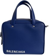Balenciaga Triangle Blue Leather Handbags