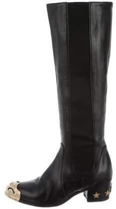 Chanel Paris-Dallas Knee-High Boots
