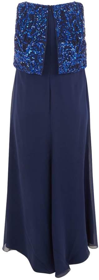 Marina Rinaldi Sleeveless Embellished Gown