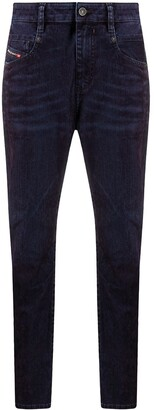 Diesel Fayza bleach-effect boyfriend jeans