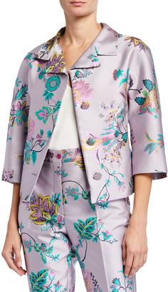 Etro Pastel Paisley Jacquard Notched-Collar Jacket