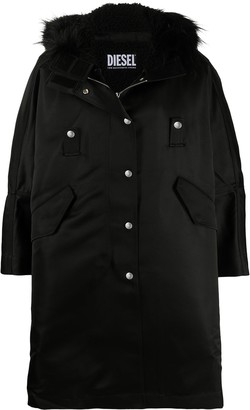 Diesel Button-Down Parka Coat