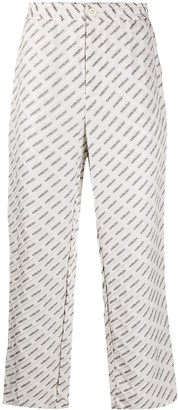 Ambush Logo Jacquard Straight-Leg Trousers