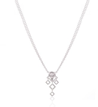 Alexa K Silver Double Chain Nightwolf Necklace