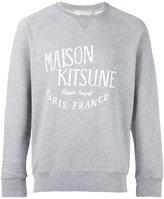 MAISON KITSUNÉ logo print sweatshirt - men - Cotton - L