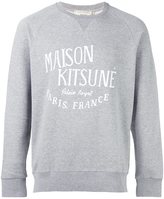 MAISON KITSUNÉ logo print sweatshirt - men - Cotton - M