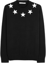 Givenchy Black Star-appliquéd Cotton Jumper