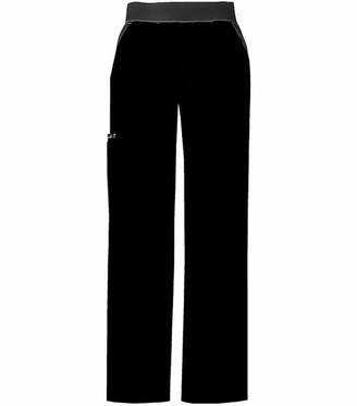 Cherokee Women's Tall Scrubs Flexibles Mid Rise Contrast Waist Pull-On Pant