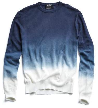 Todd Snyder Dip Dye Cotton Crewneck Sweater in Navy