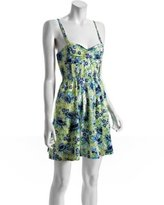 yellow floral cotton 'Dreamers' dress