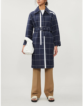 3.1 Phillip Lim Checked double-breasted cotton-blend coat