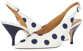 Tory Burch 70 mm Slingback Pump (New Ivory/Perfect Navy) Women's Shoes