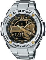 G-Shock Men's Analog-Digital Silver-Tone Stainless Steel Bracelet Watch 59x52mm GST210D-9A