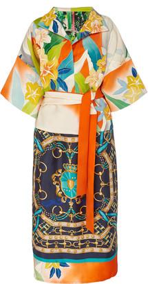 RIANNA + NINA Exclusive One Of A Kind Vibrant Silk Dress