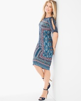 Chico's Cold-Shoulder Geometric Print Dress