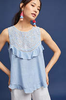 Seen Worn Kept Sleeveless Ruffled Top