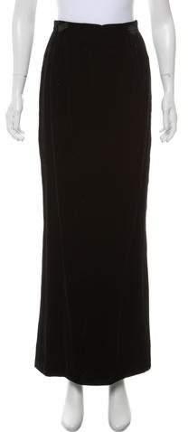 Chanel Velvet Maxi Skirt