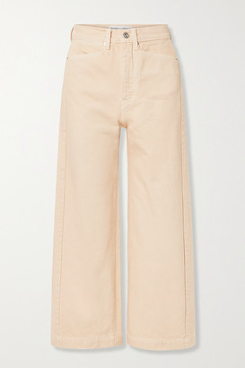 Proenza Schouler White Label Cropped High-rise Straight-leg Jeans - Beige