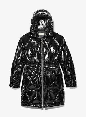 MICHAEL Michael Kors MK Diamond Quilted Cire Puffer Coat - Black - Michael Kors
