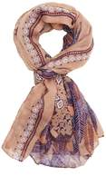 Charlotte Russe Feather Printed Wrap Scarf