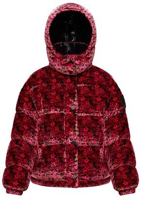 Moncler Floral Velvet Daos Down Jacket