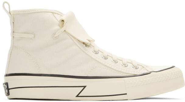 Visvim Beige Skagway Kiltie High-Top Sneakers