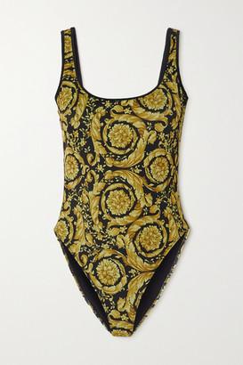 Versace Printed Swimsuit - Black