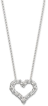 Bloomingdale's Diamond Heart Pendant Necklace in 14K White Gold, 0.25 ct. t.w. - 100% Exclusive