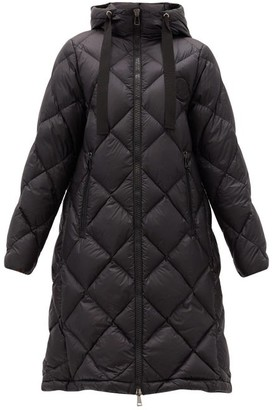 Moncler Duroc Quilted Hooded Down Coat - Black