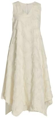 Fabiana Filippi Sleeveless Fringe Handkerchief Dress