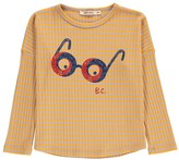 Bobo Choses Striped Loose Glasses T-Shirt