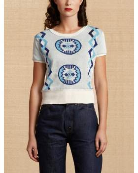 Levi's Vintage - Beige Jaquard Womens T Shirt - s | beige - Beige