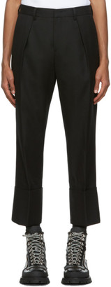 Wooyoungmi Black Wool Pleated Trousers
