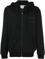 Les Benjamins rear abstract print zipped hoodie