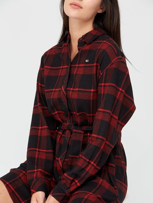 Tommy Jeans Flannel Shirt Dress - Multi